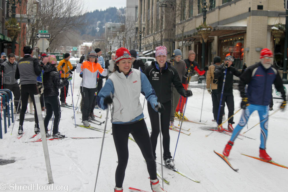 Rounding up the troops at the 2014 Stumptown Birkie.