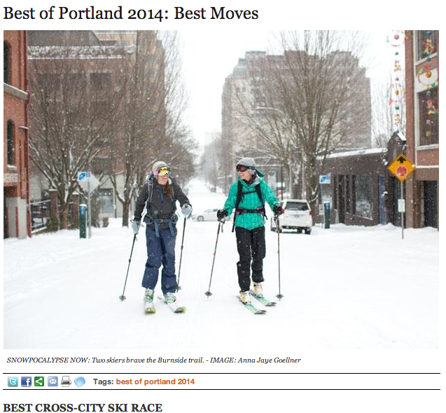 "We are now officially the ""Best Cross-City Ski Race"".  But you knew that."